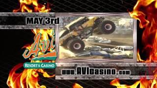 monster trucks at the avi resort casino