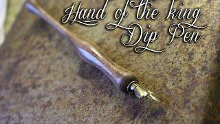 hand of the king, dip pen/ woodturning a dip pen #6