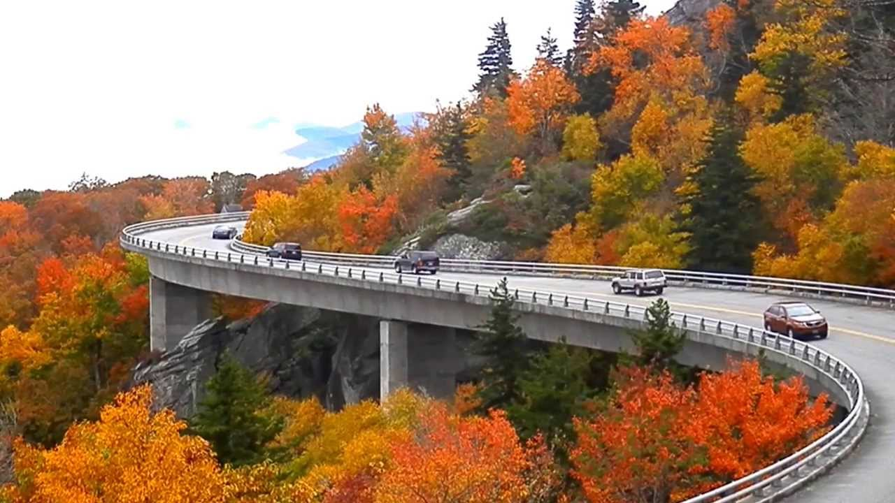 Linn Cove Viaduct at the Peak of Color   Living in The Blue Ridge ...
