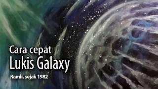 Cara cepat melukis galaxy - galaxy painting