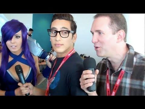 Crashing Kassem G's interview with Jessica Nigri - ???
