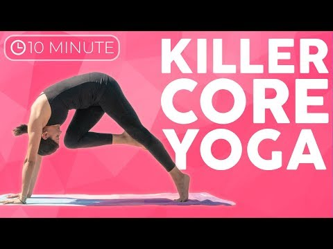 10 minute Killer Core Yoga Workout | Sarah Beth Yoga