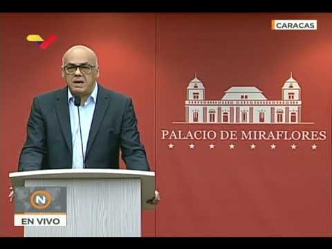 Jorge Rodríguez, rueda de prensa por 3 nuevos capturados tras atentado contra Maduro