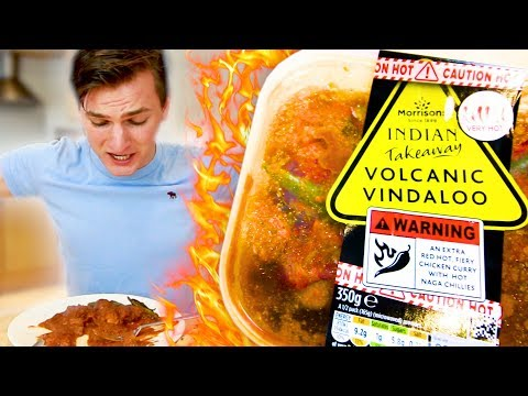 Eating the HOTTEST Supermarket Curry (Spicy Food Challenge) | Challenge Pete