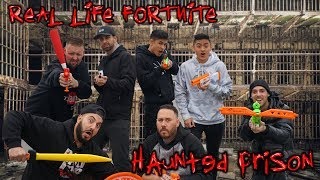 REAL LIFE FORTNITE BATTLE ROYALE IN HAUNTED PRISON | OmarGoshTV