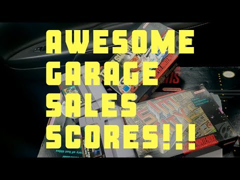 Live Retro video game hunting: Awesome Garage Sale Scores!!!!!