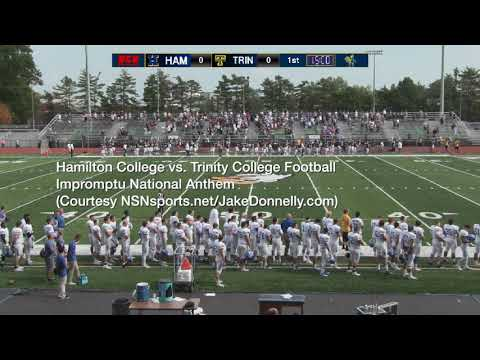 Impromptu National Anthem w/Hamilton College & Trinity College 10/7/17--Hartford, CT