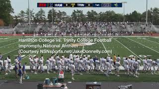 impromptu national anthem w hamilton college trinity college 10 7 17 hartford ct