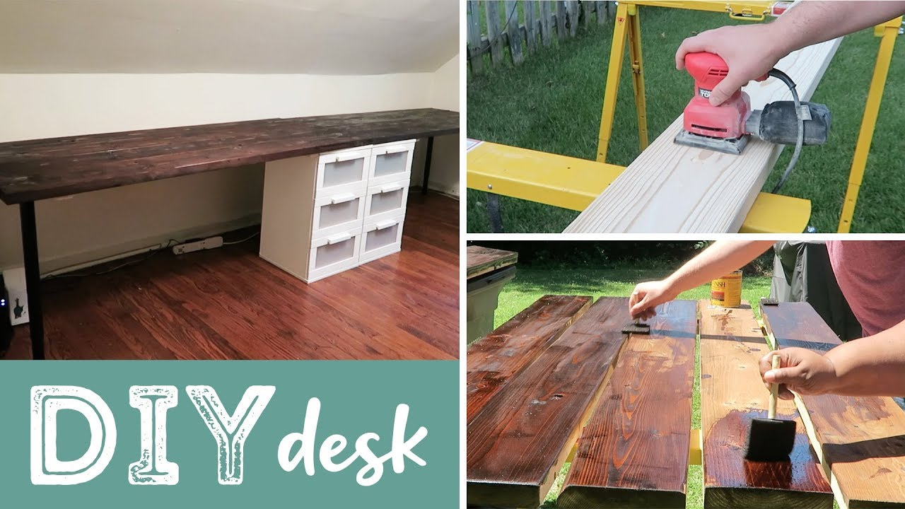 DIY Wood Desk | Easy! Cheaper than Buying!