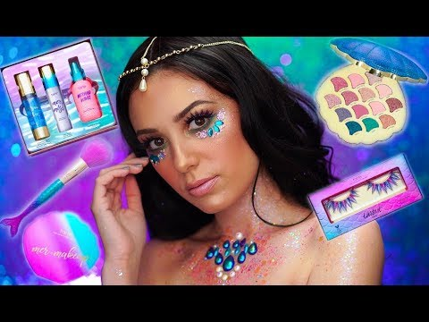 NEW TARTE MERMAID COLLECTION!   Festival Mermaid Makeup Tutorial   Tarte Cosmetics   Victoria Lyn