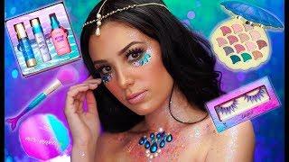 NEW TARTE MERMAID COLLECTION! | Festival Mermaid Makeup Tutorial | Tarte Cosmetics | Victoria Lyn