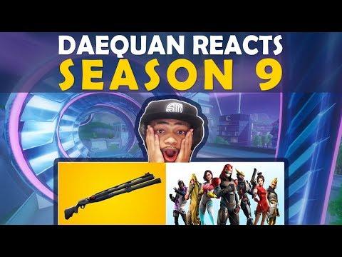 DAEQUAN REACTS TO SEASON 9 | NEW SHOTGUN | BATTLEPASS | NEW TILTED