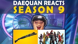 DAEQUAN REACTS TO SEASON 9 | NEW SHOTGUN | BATTLEPASS | NEW TILTED