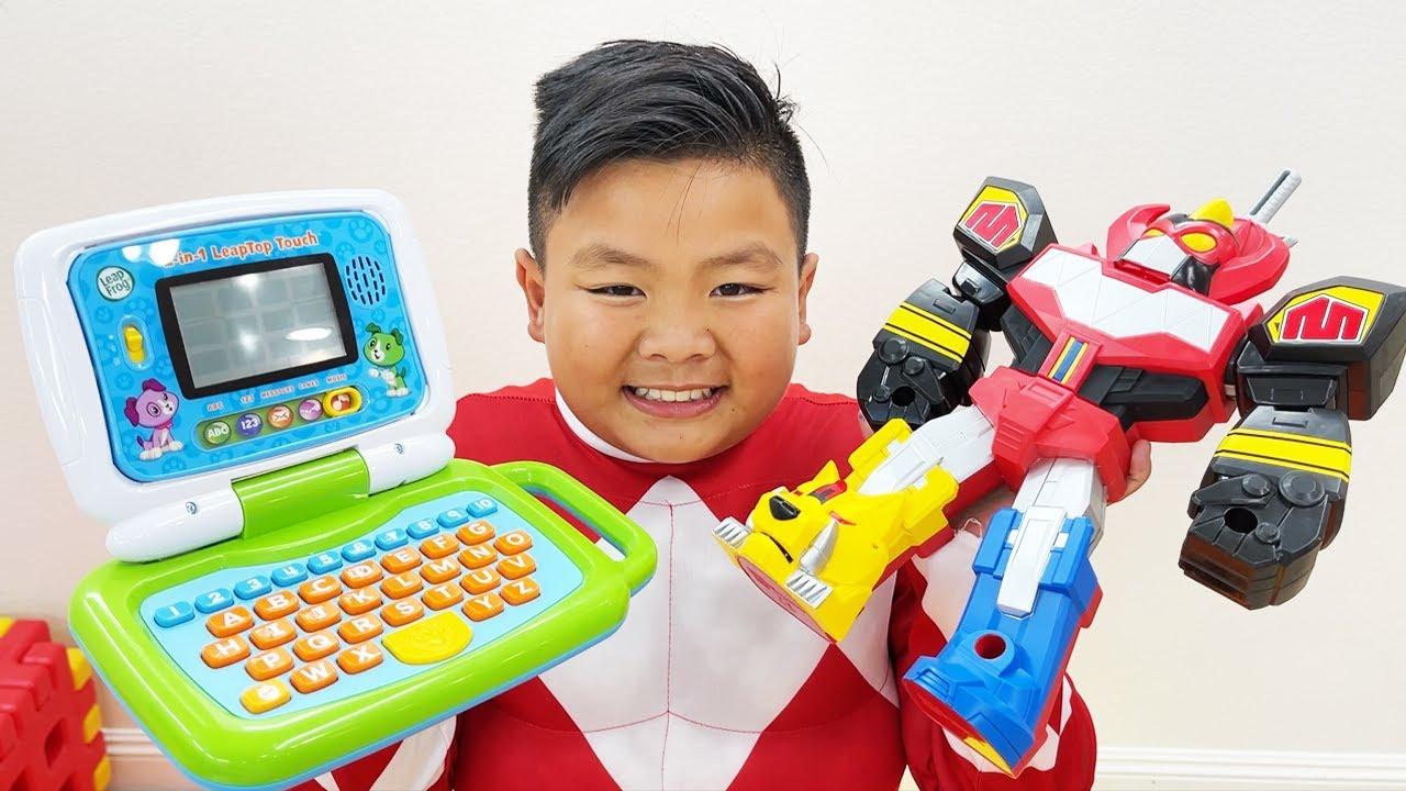 Alex Plays as Power Rangers Megazord  Fun Toys for Kids