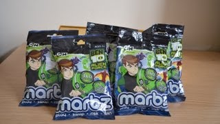 Ben 10 Marbz marbels Surprise opening unwrapping (HD)