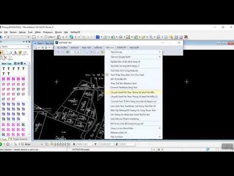 Chuyển file cad qua microstaion và khắc phục lỗi font
