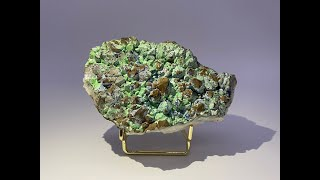 Fine Mineral Specimen: Malachite and Goethite pseudomorph after Quartz Crystals from China