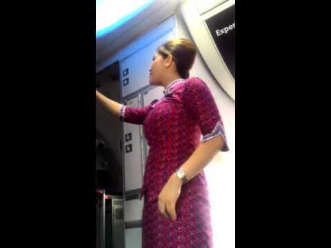 Rekaman Langsung Kegiatan Pramugari Lion Air sebelum Lepas Landas