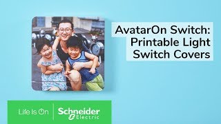 AvatarOn Switch: Unique Light Switch Covers to Personalize Your Living Space | Schneider Electric