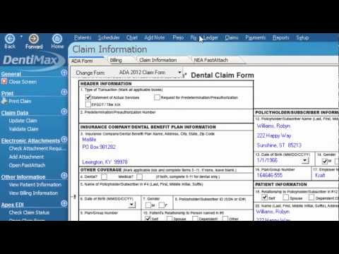 Excluding an Item from a Claim Form   DentiMax Dental Software Tip