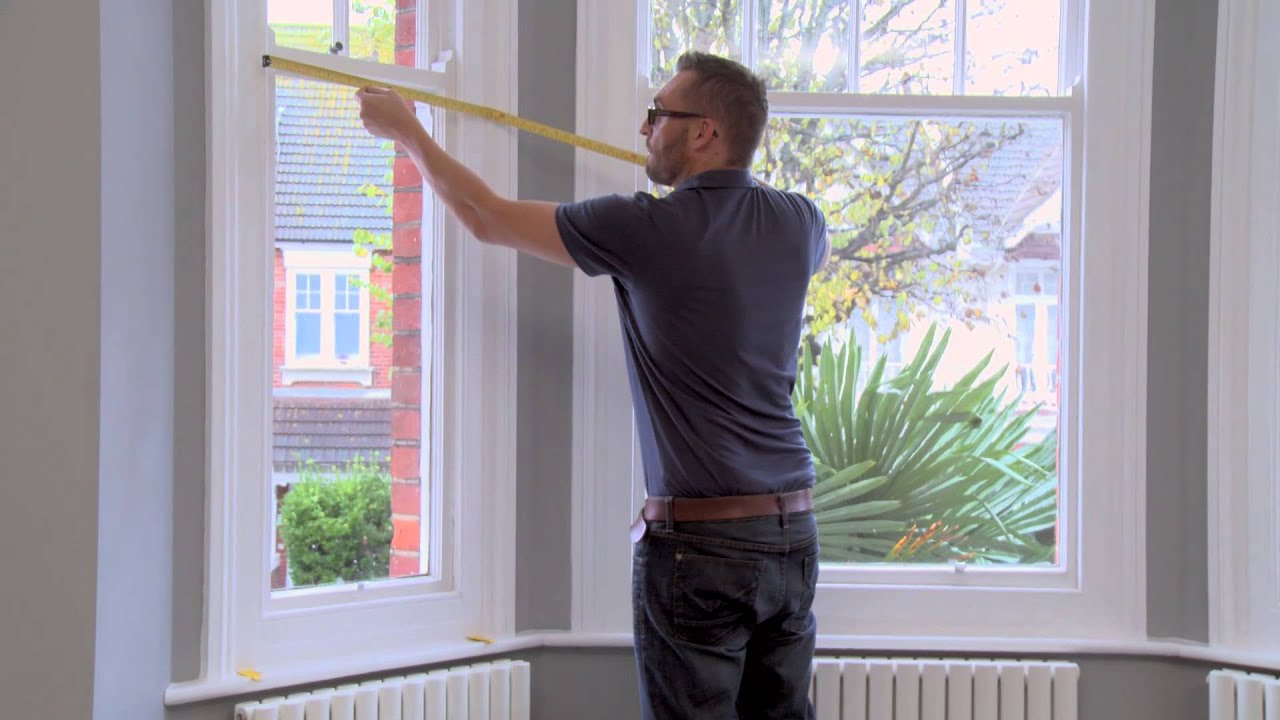 How to measure your windows for outside mount cafe - Measure exterior window shutters ...