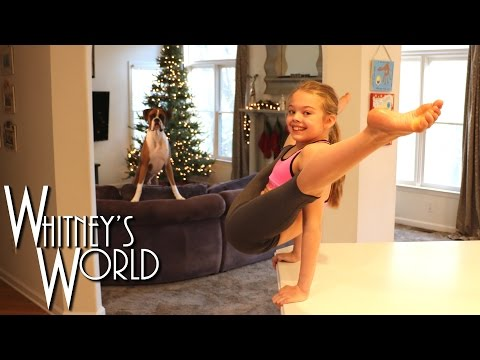 Straddle V Press Hold & Contortion Push Ups | Whitney