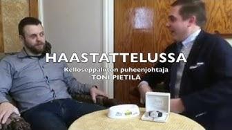 Kelloniekan haastattelussa Kelloseppäliiton puheenjohtaja Toni Pietilä