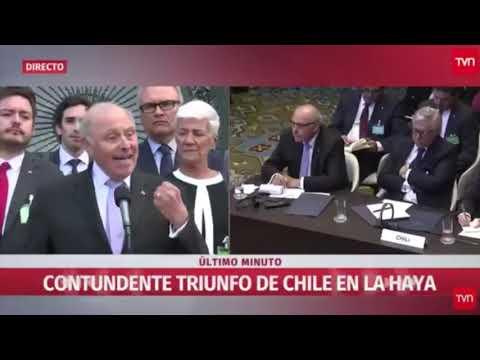 Grossman asegura que el triunfo de Chile en la CIJ 'es un triunfo del derecho internacional'