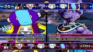 Dragon Ball Z Budokai Tenkaichi 3 - Zeno Sama Vs Bills ,Whis,Vermouth, Mojito , PS2 MOD