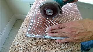샤워 부스 헤드 구멍 타일 컷#cutting tile …