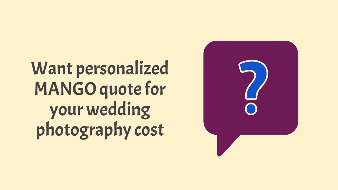 Wedding Photography Cost Calculator | Mango Studios
