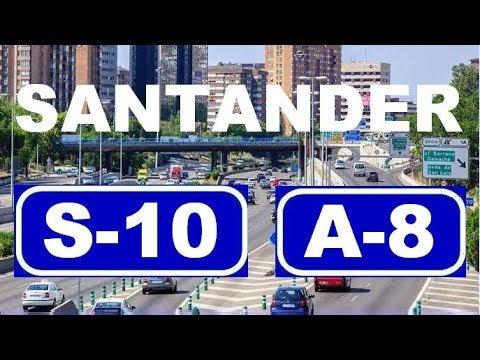 Download Santander S-10 / A-8 Accesos a Santander , Oeste / Access to Santander: S-10/A-8 (eastbound)