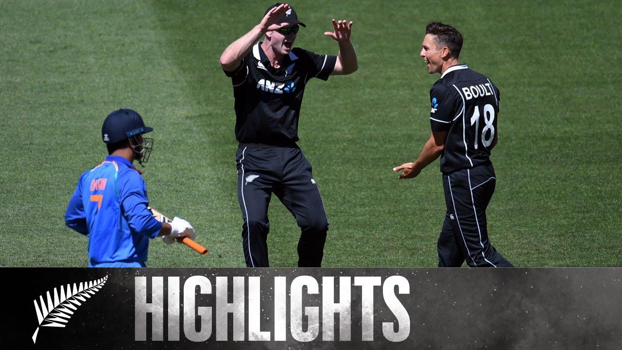 Download Boult Stuns Dhoni Before Rayudu Takes Over   HIGHLIGHTS   5th ODI - BLACKCAPS v India, 2019