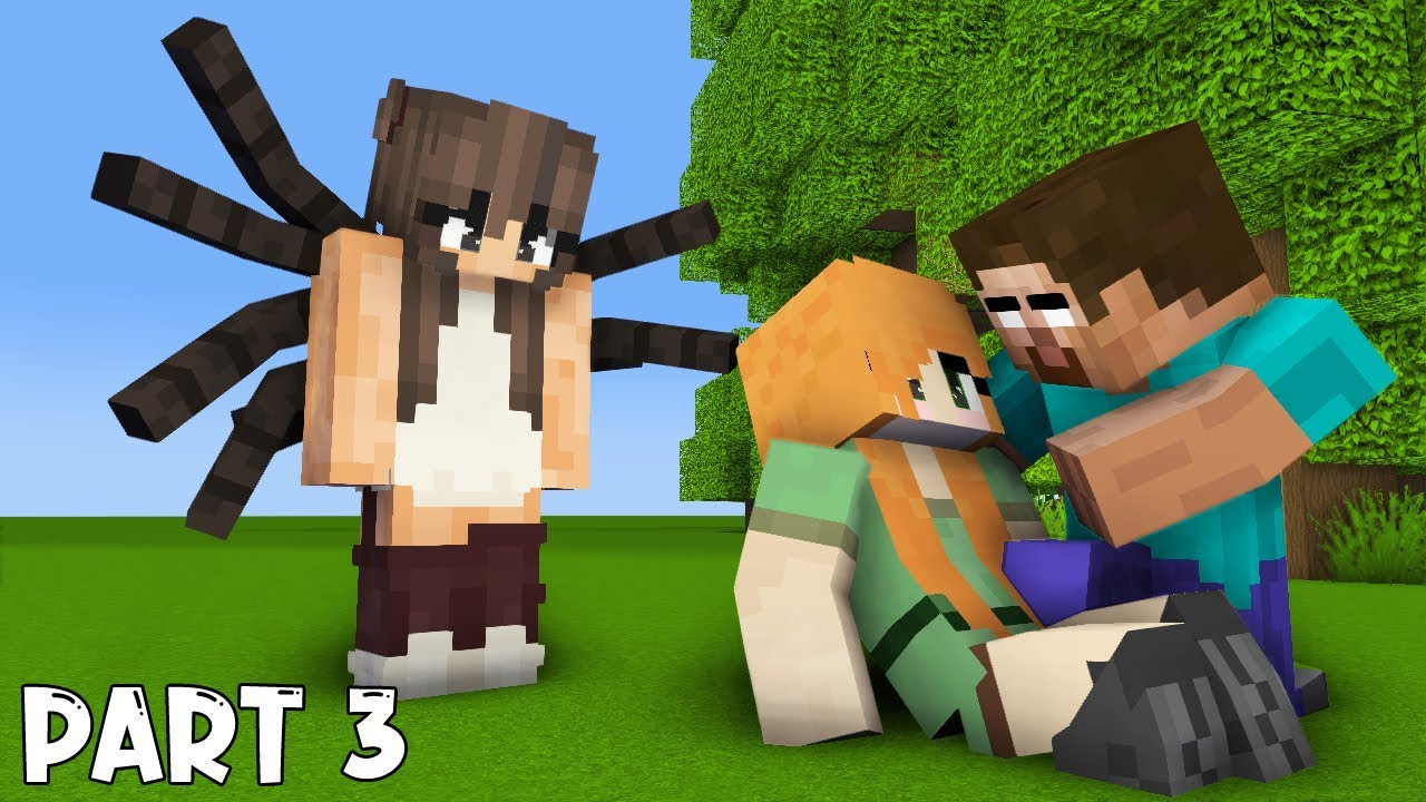 MONSTER SCHOOL : PART 3 HEROBRINE's LIFE (with SPIDER STORY) - SAD ANIMATION