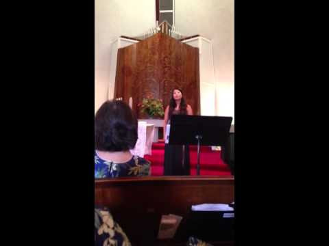 "Sherry Shaoling Sings ""Pie Jesu"""