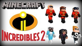 Minecraft The Incredibles Skin Pack Review! (Xbox/PS4/Switch/PE)
