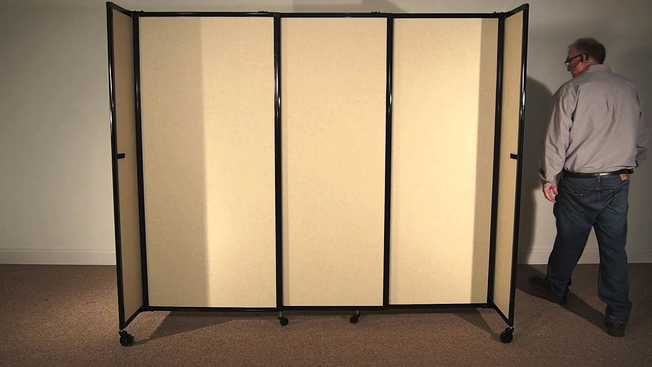 & StraightWall Portable Sliding Room Divider by Versare - YouTube Pezcame.Com