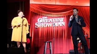 Hugh Jackman and Keala Settle At 'THE GREATEST SHOWMAN' Special Event | Listening Party Video