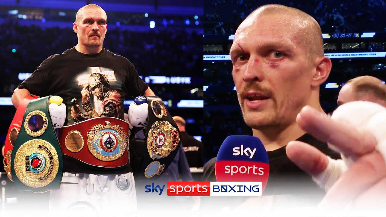 A new champion - Reactions to Oleksandr Usyk's victory against ...