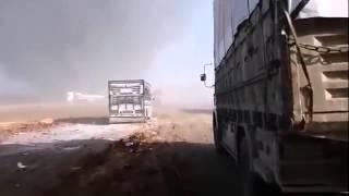 СИРИЯ в ОГНЕ! ВКС РФ уничтожили конвой боевиков ИГИЛ   SYRIA! Russian jets destroyed ISIS convoy