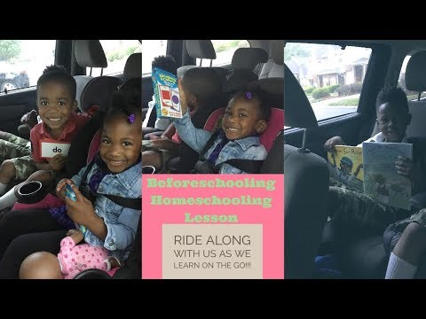Homeschooling Working Mom's On The Go Lesson | Before School Schooling