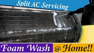 How to Clean an Air Conditioner || DIY || Split AC Service at home || Wet Ac Servicing