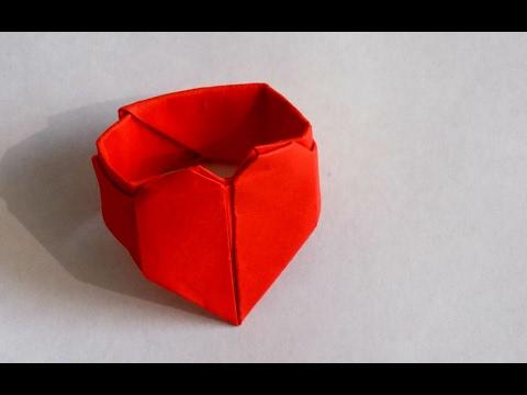 Как сделать оригами кольцо