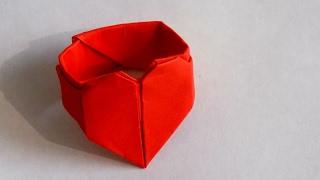 как сделать оригами кольцо с сердцем / оригами из бумаги кольцо