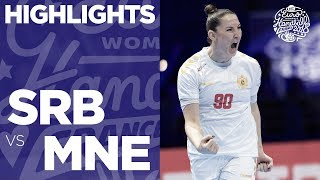 Serbia vs Montenegro | Highlights | Women's EHF EURO 2018