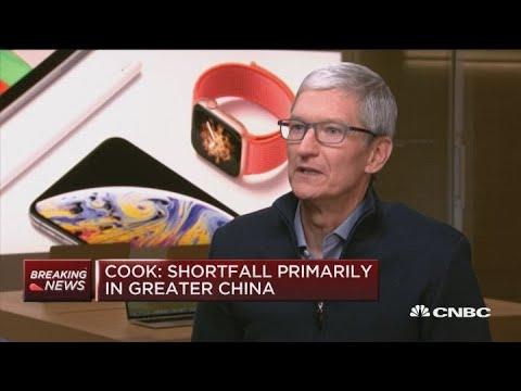 Apple CEO Tim Cook blames weak revenue guidance on slow growth in China