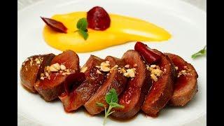 CCMLC - Magret de canard laqué mousseline de patate douce et betteraves