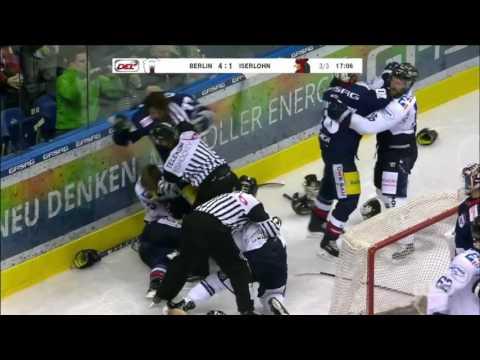 Iserlohn Roosters vs Eisbären Berlin Line Brawl Nov. 18, 2016