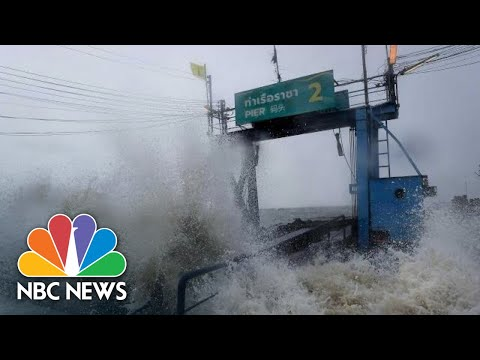 Resorts Evacuated, Flights Canceled As Thailand Hit By First Tropical Storm In Decades | NBC News