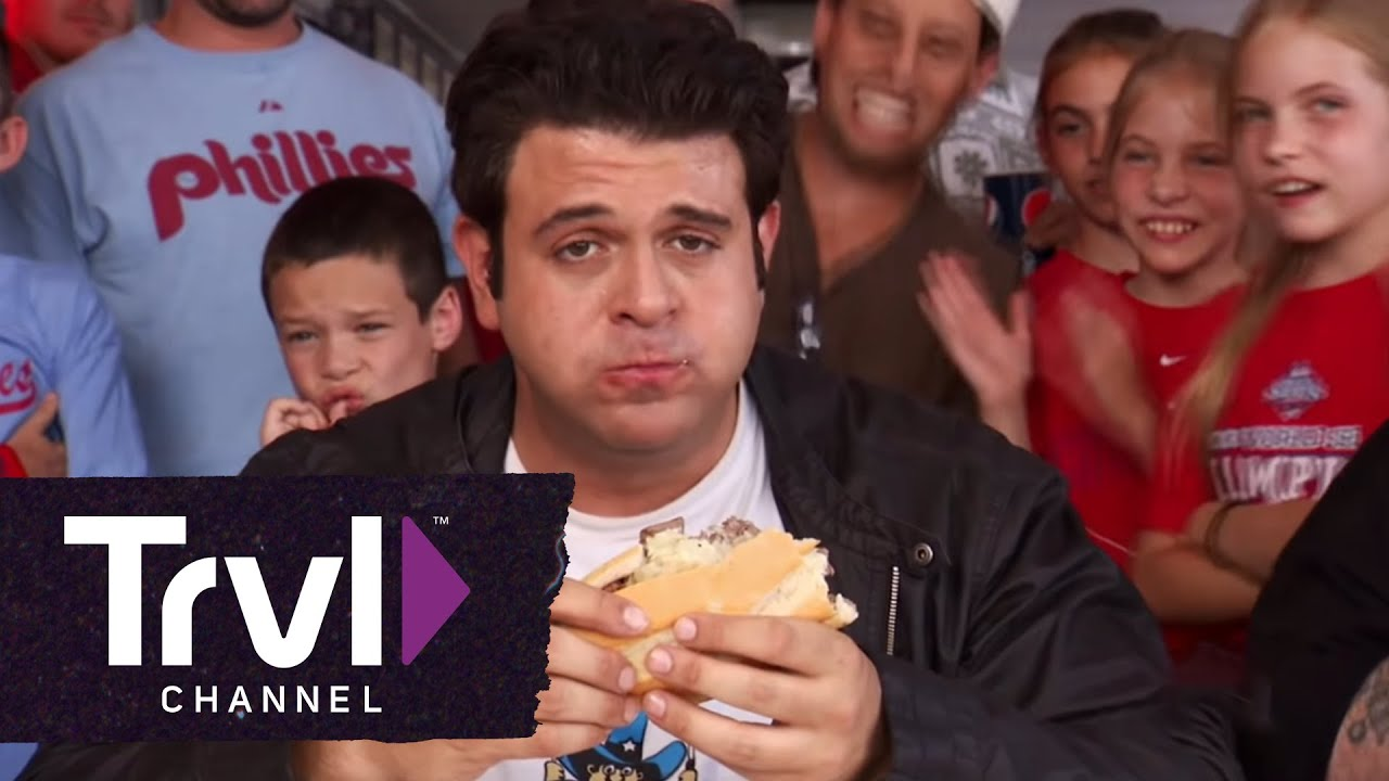 Man v. Food: Ultimate Cheesesteak Challenge - YouTube
